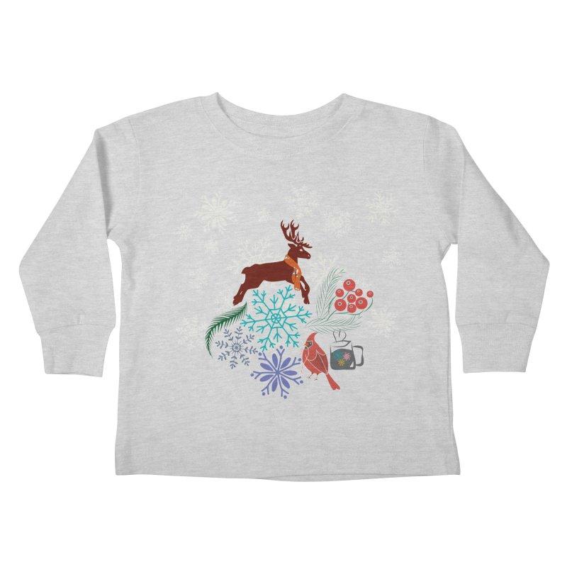 Winter Vibes Kids Toddler Longsleeve T-Shirt by Famenxt