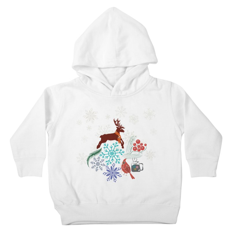 Winter Vibes Kids Toddler Pullover Hoody by Famenxt
