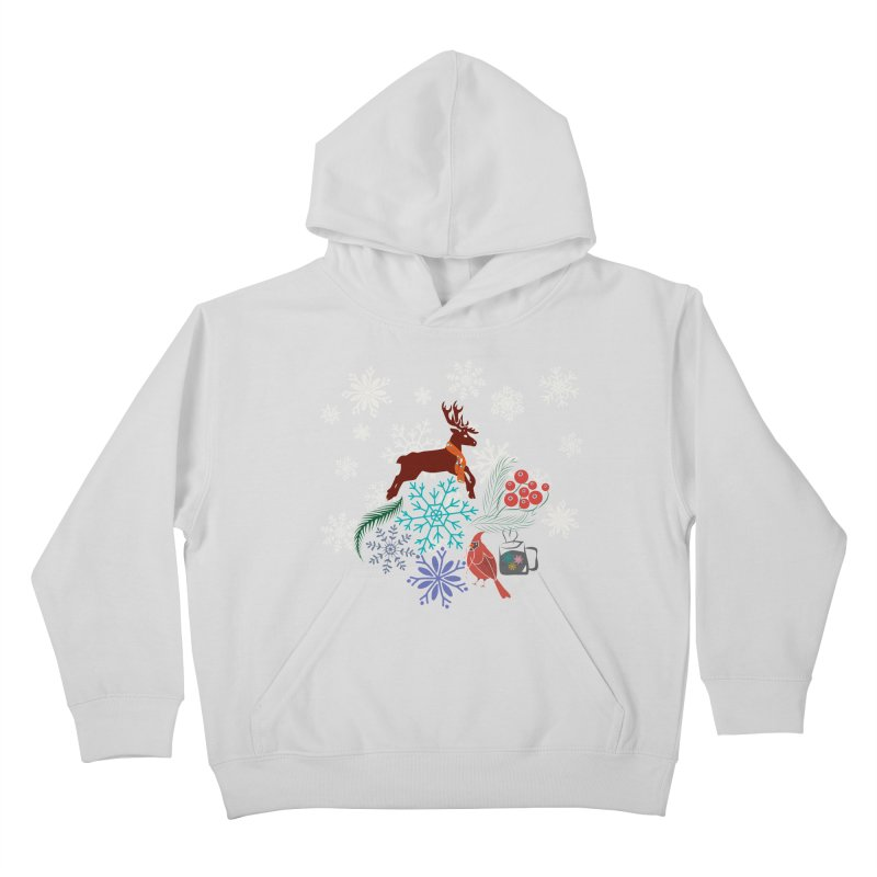 Winter Vibes Kids Pullover Hoody by Famenxt