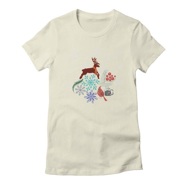 Winter Vibes Women's Fitted T-Shirt by Famenxt