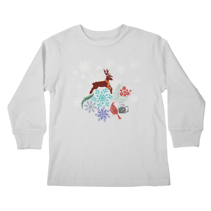 Winter Vibes Kids Longsleeve T-Shirt by Famenxt