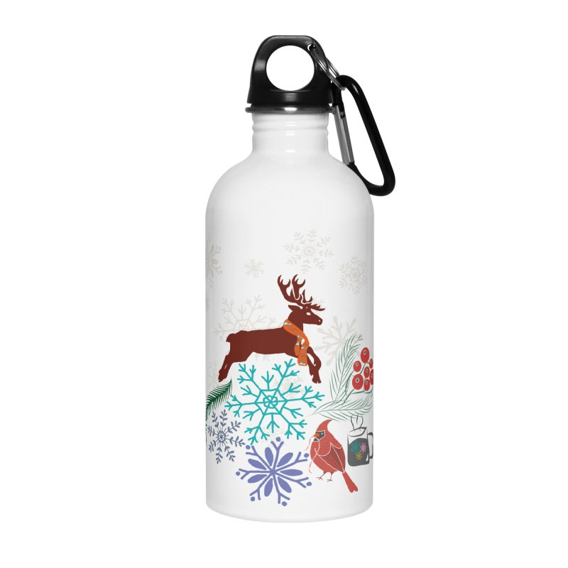 Winter Vibes Accessories Water Bottle by Famenxt