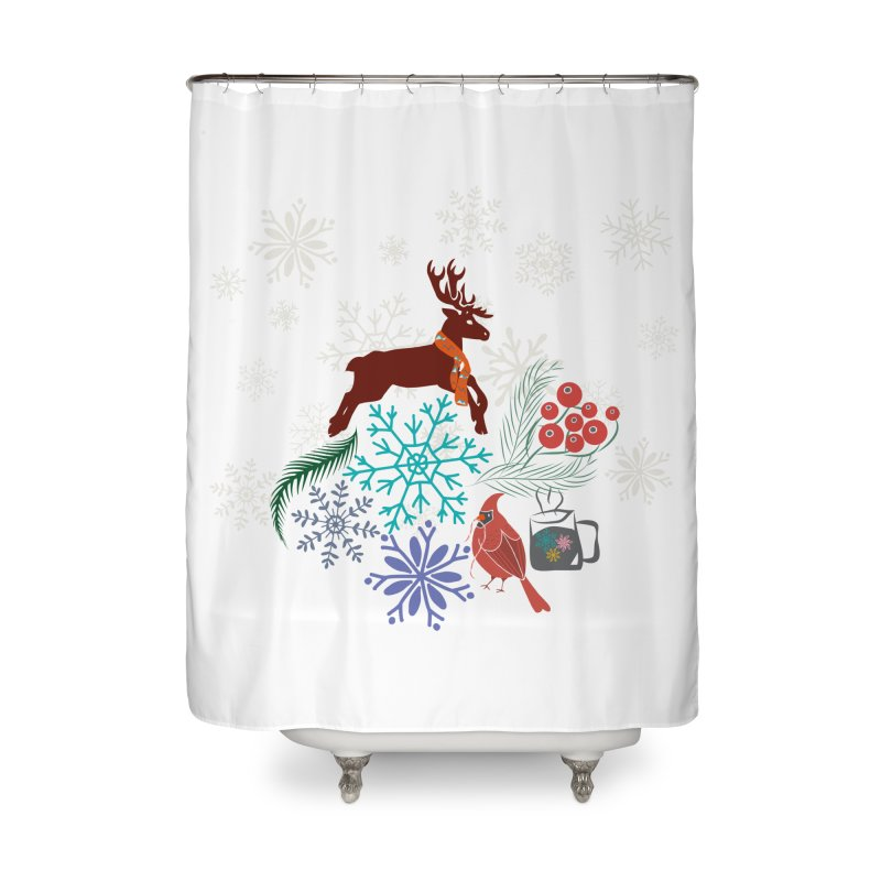 Winter Vibes Home Shower Curtain by Famenxt
