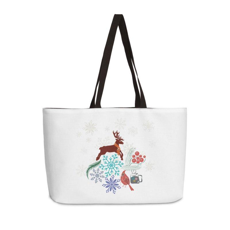 Winter Vibes Accessories Weekender Bag Bag by Famenxt