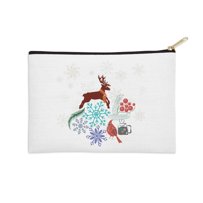 Winter Vibes Accessories Zip Pouch by Famenxt