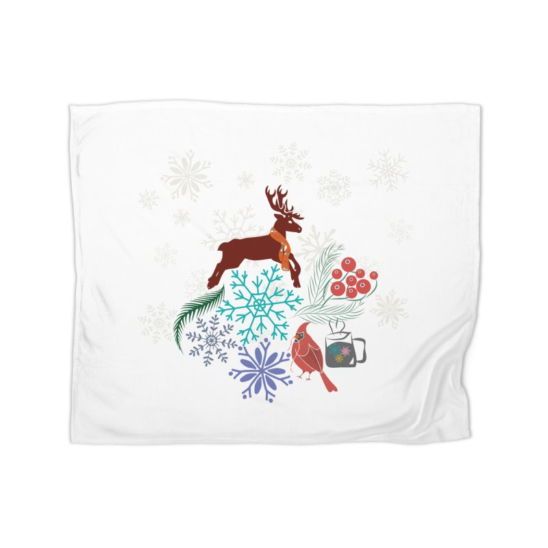 Winter Vibes Home Fleece Blanket Blanket by Famenxt