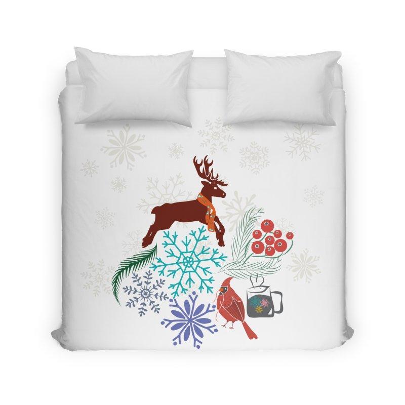 Winter Vibes Home Duvet by Famenxt