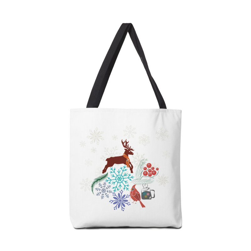 Winter Vibes Accessories Tote Bag Bag by Famenxt