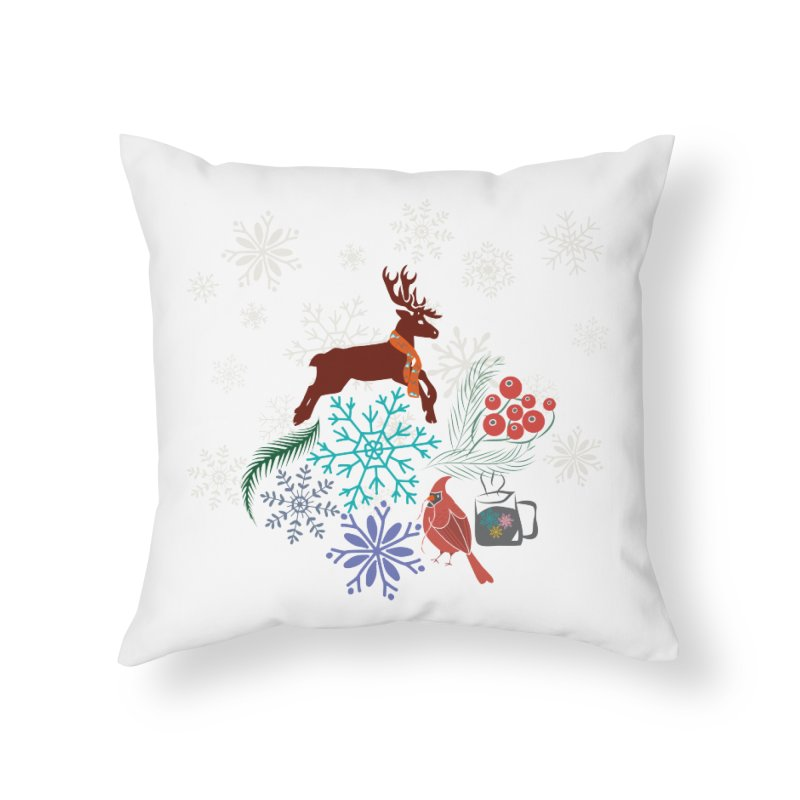 Winter Vibes Home Throw Pillow by Famenxt