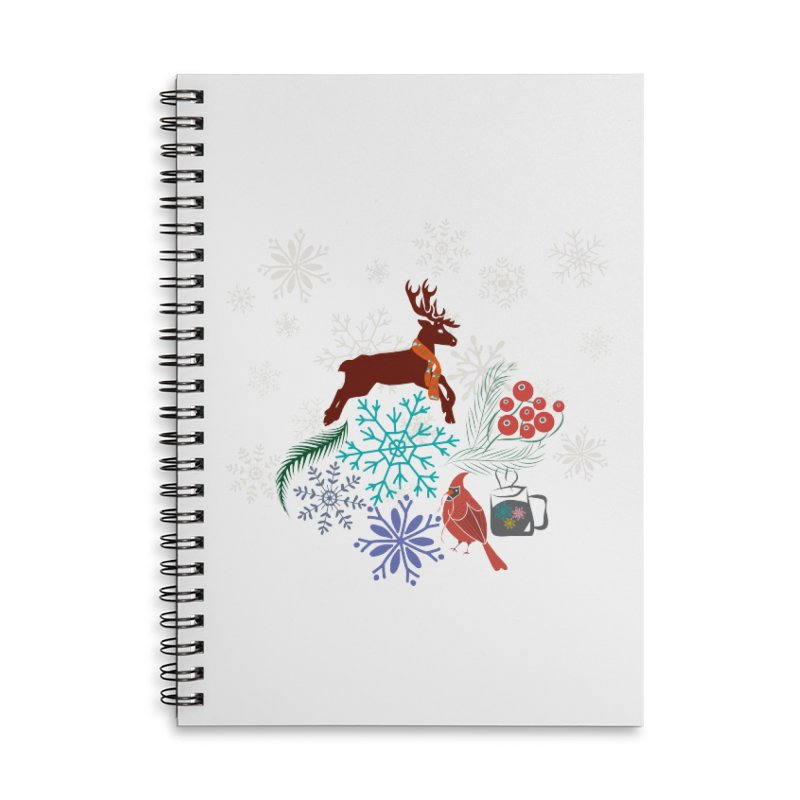 Winter Vibes Accessories Lined Spiral Notebook by Famenxt