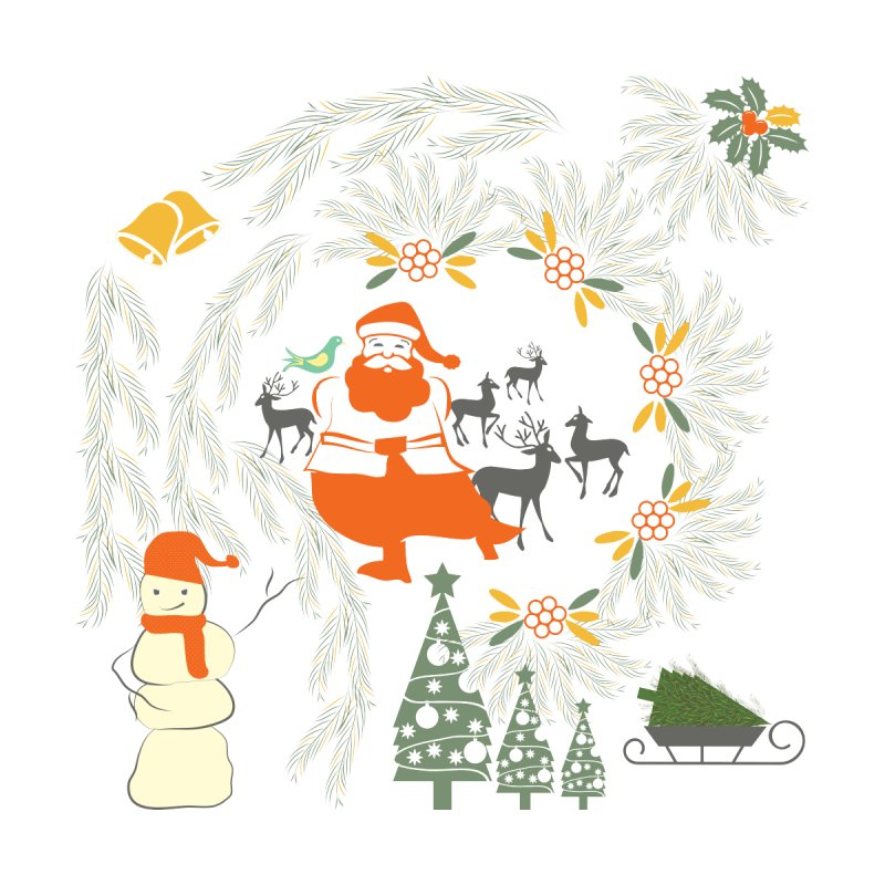 Joyous Christmas Home Shower Curtain by Famenxt