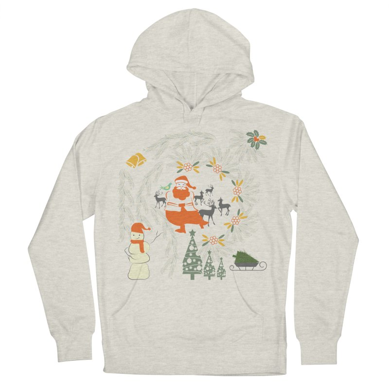 Joyous Christmas Women's French Terry Pullover Hoody by Famenxt