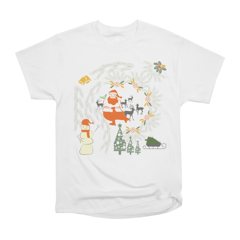 Joyous Christmas Men's Heavyweight T-Shirt by Famenxt