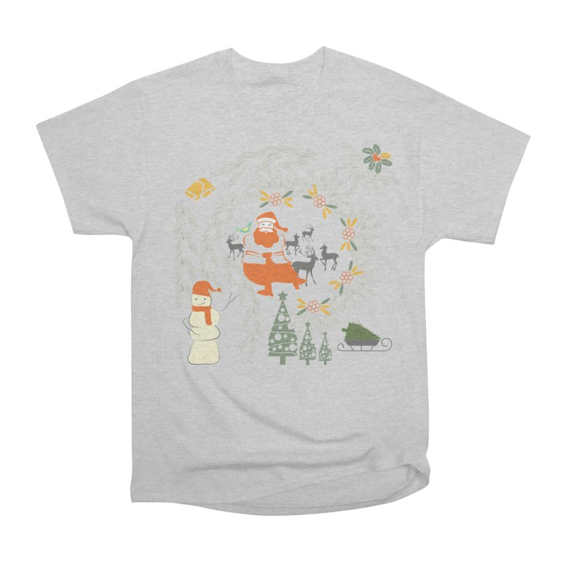Joyous Christmas Women's Heavyweight Unisex T-Shirt by Famenxt