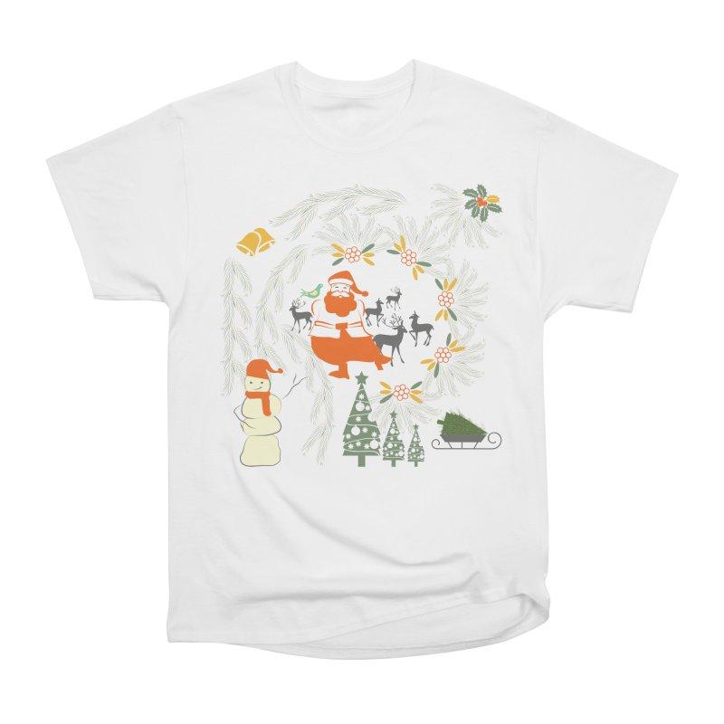 Joyous Christmas Women's Heavyweight Unisex T-Shirt by Famenxt