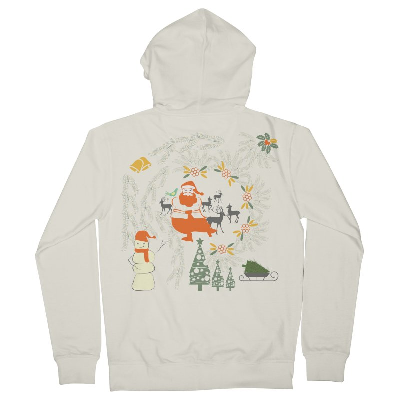 Joyous Christmas Women's French Terry Zip-Up Hoody by Famenxt