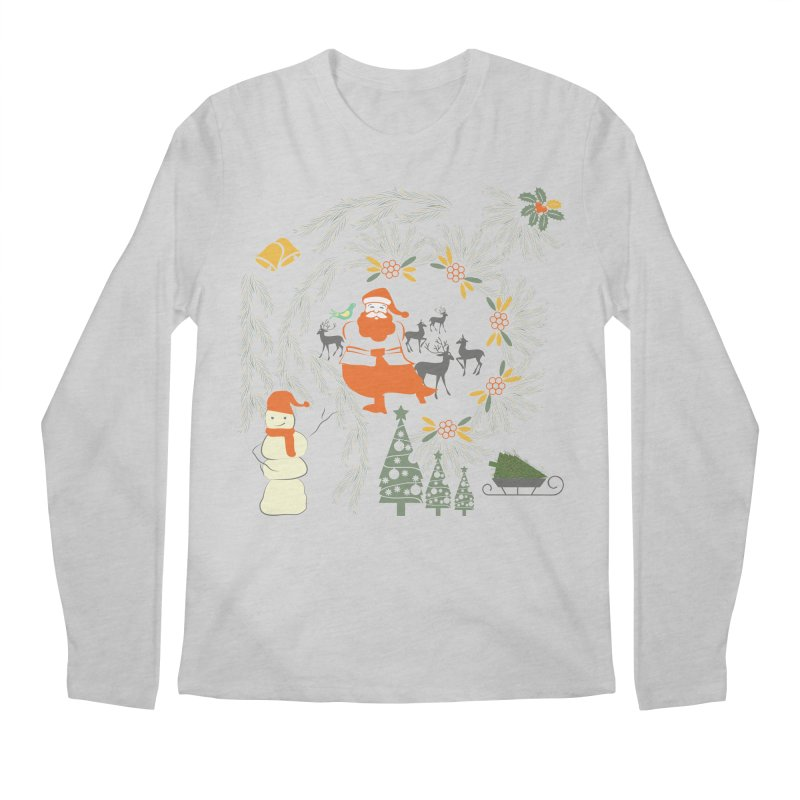 Joyous Christmas Men's Longsleeve T-Shirt by Famenxt