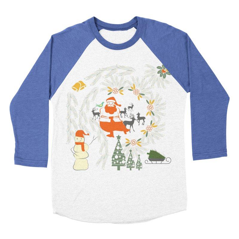 Joyous Christmas Women's Baseball Triblend T-Shirt by Famenxt