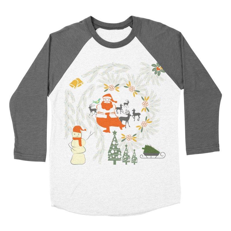 Joyous Christmas Women's Baseball Triblend Longsleeve T-Shirt by Famenxt