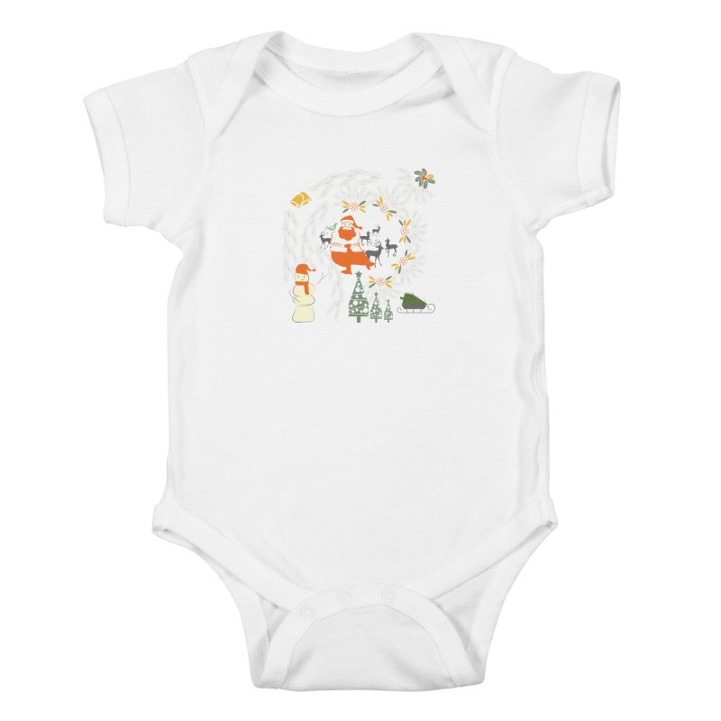 Joyous Christmas Kids Baby Bodysuit by Famenxt