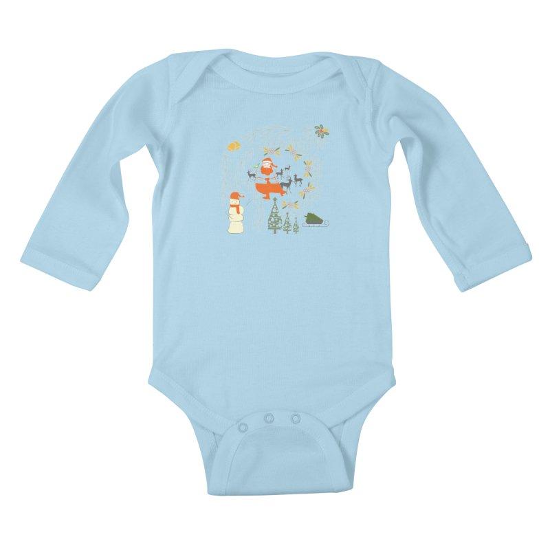 Joyous Christmas Kids Baby Longsleeve Bodysuit by Famenxt