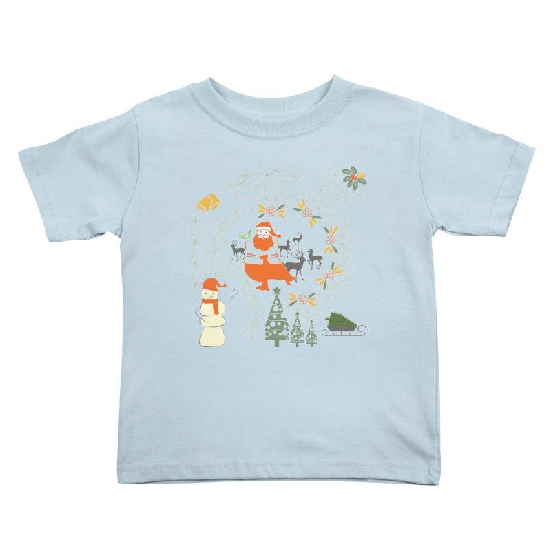 Joyous Christmas Kids Toddler T-Shirt by Famenxt