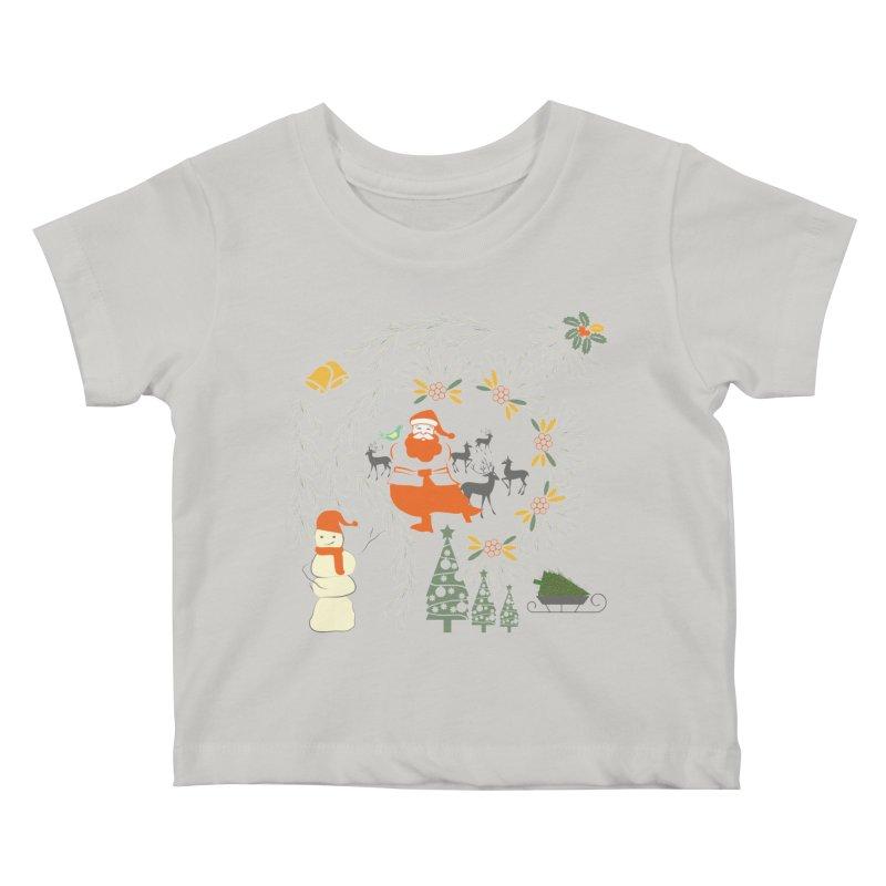 Joyous Christmas Kids Baby T-Shirt by Famenxt
