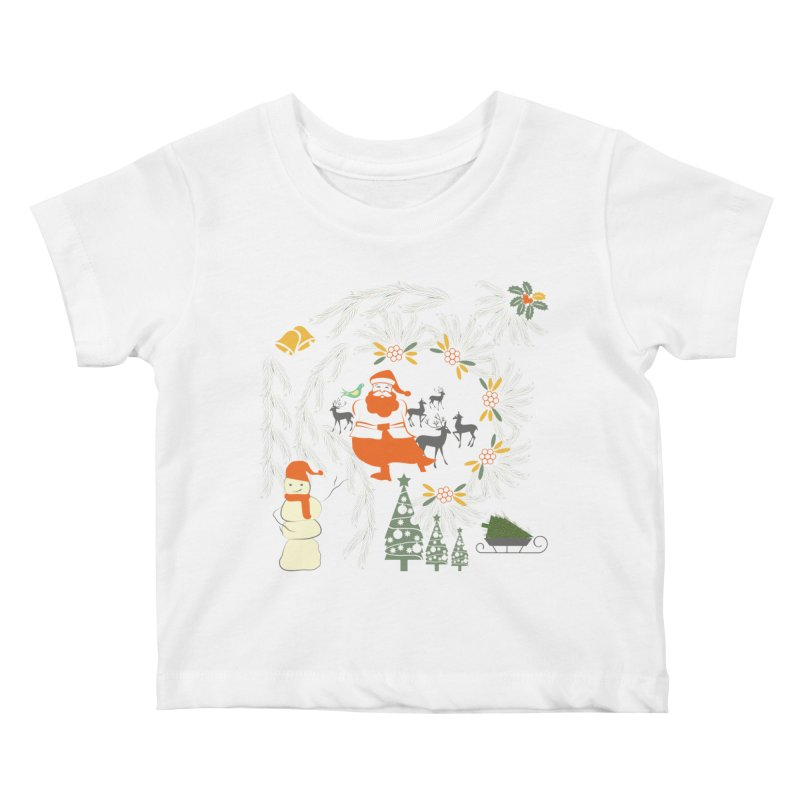 Joyous Christmas Kids Baby T-Shirt by Famenxt