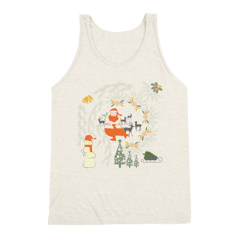 Joyous Christmas Men's Triblend Tank by Famenxt
