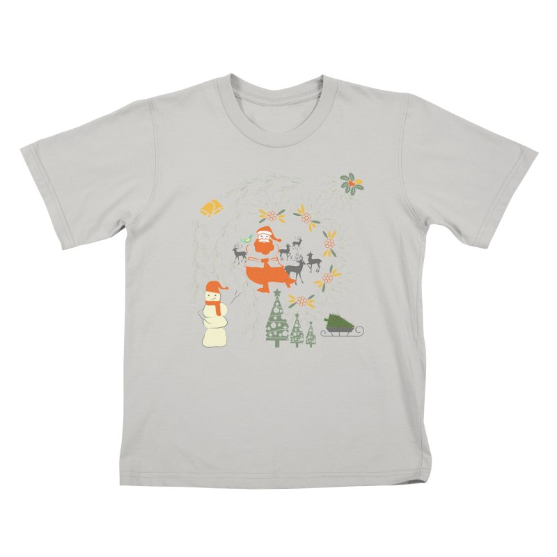 Joyous Christmas Kids T-Shirt by Famenxt