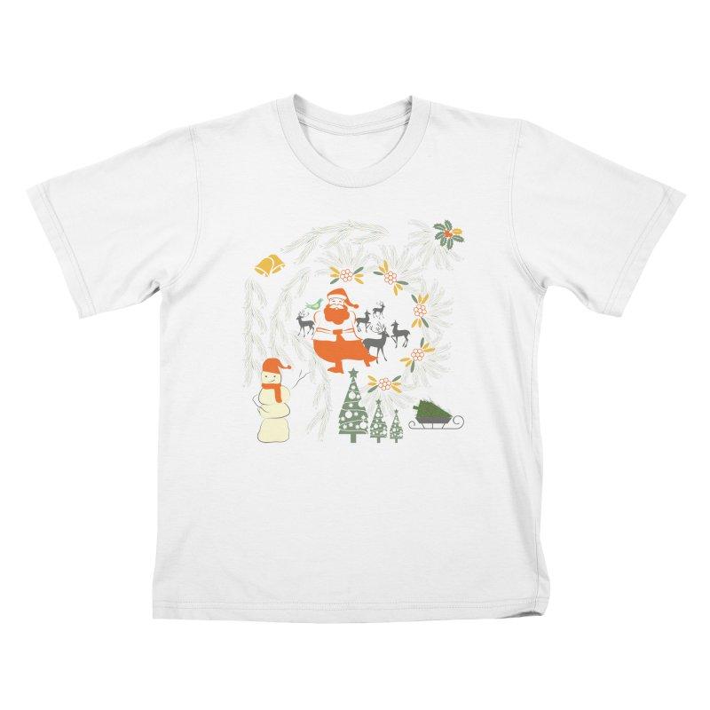 Joyous Christmas Kids T-Shirt by Famenxt