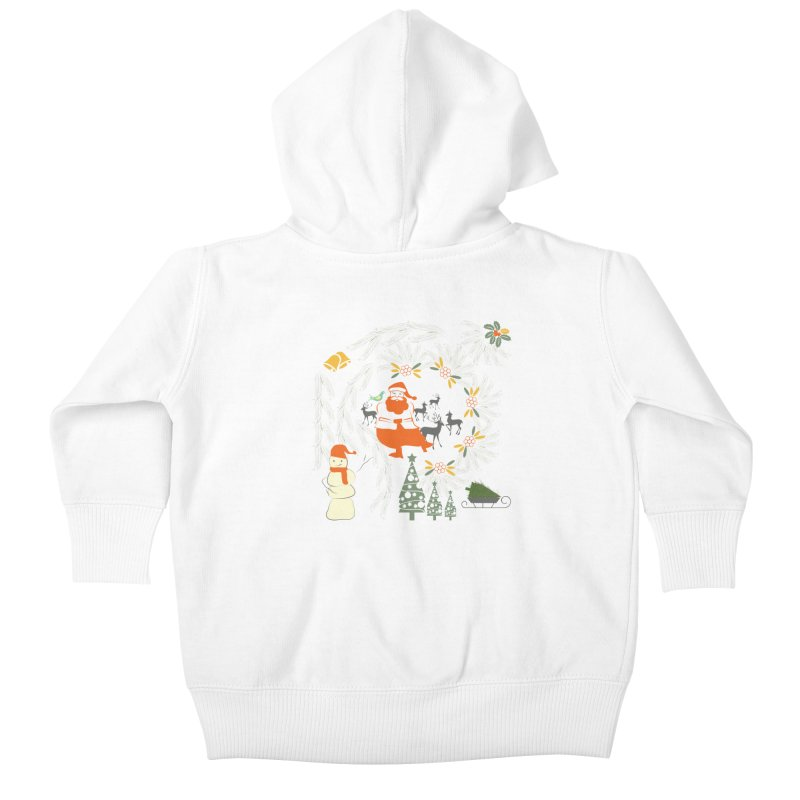 Joyous Christmas Kids Baby Zip-Up Hoody by Famenxt