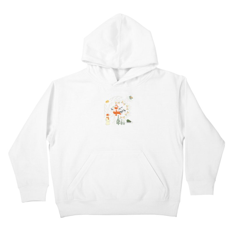 Joyous Christmas Kids Pullover Hoody by Famenxt