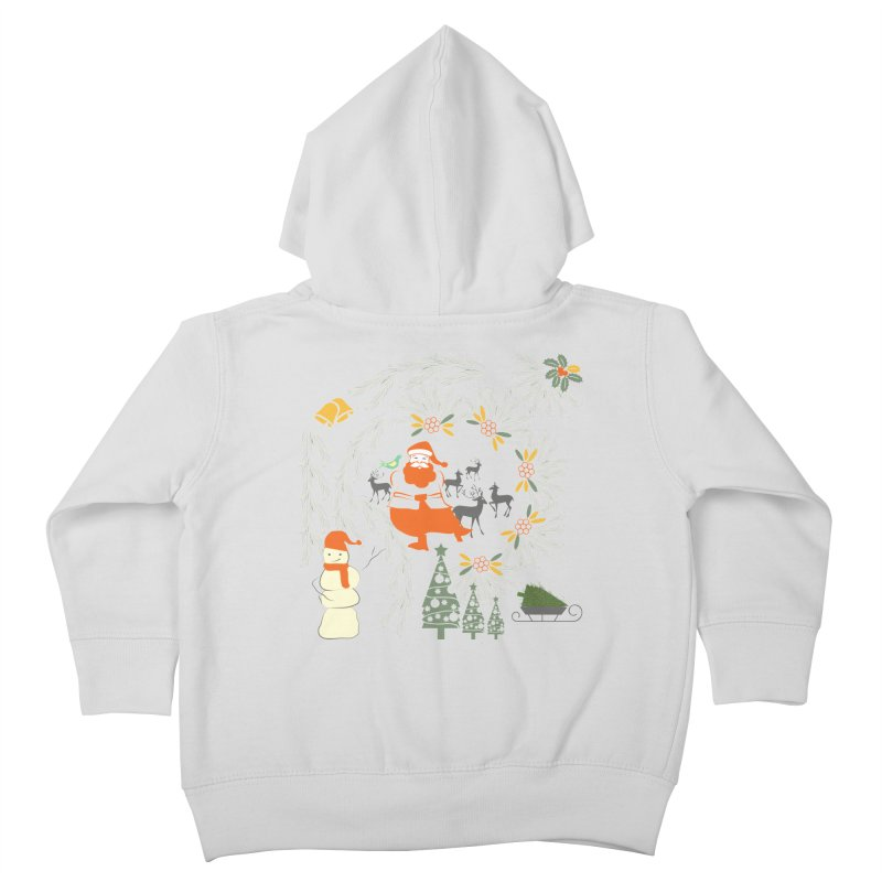 Joyous Christmas Kids Toddler Zip-Up Hoody by Famenxt