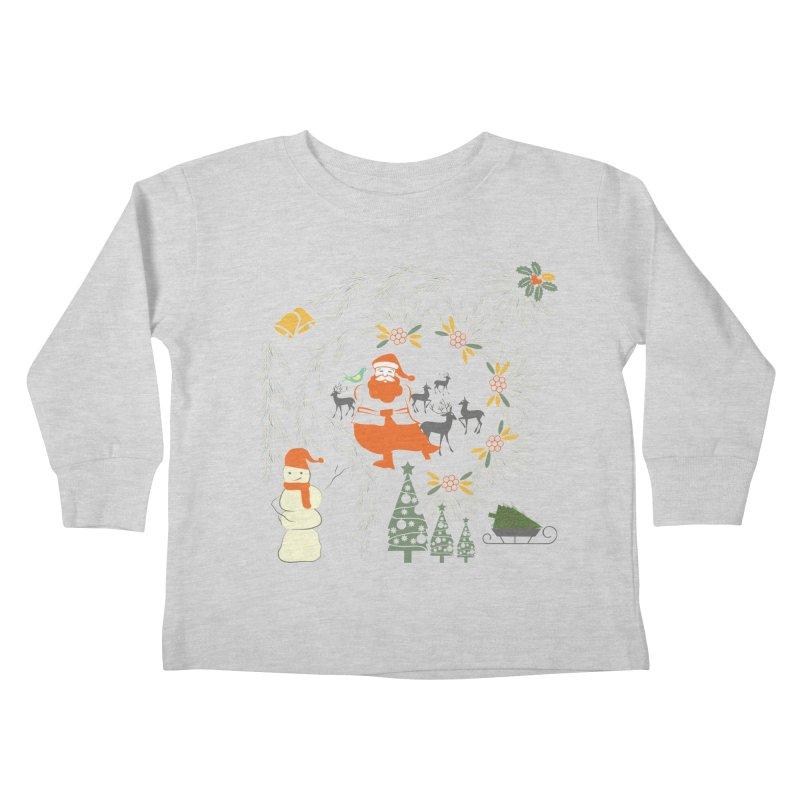Joyous Christmas Kids Toddler Longsleeve T-Shirt by Famenxt