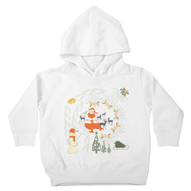Joyous Christmas Kids Toddler Pullover Hoody by Famenxt