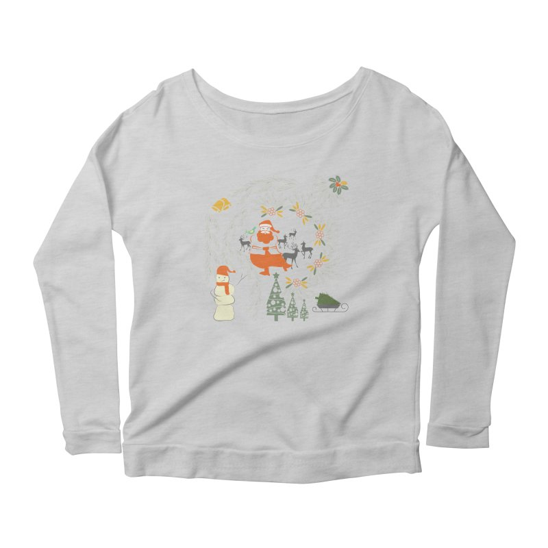 Joyous Christmas Women's Scoop Neck Longsleeve T-Shirt by Famenxt