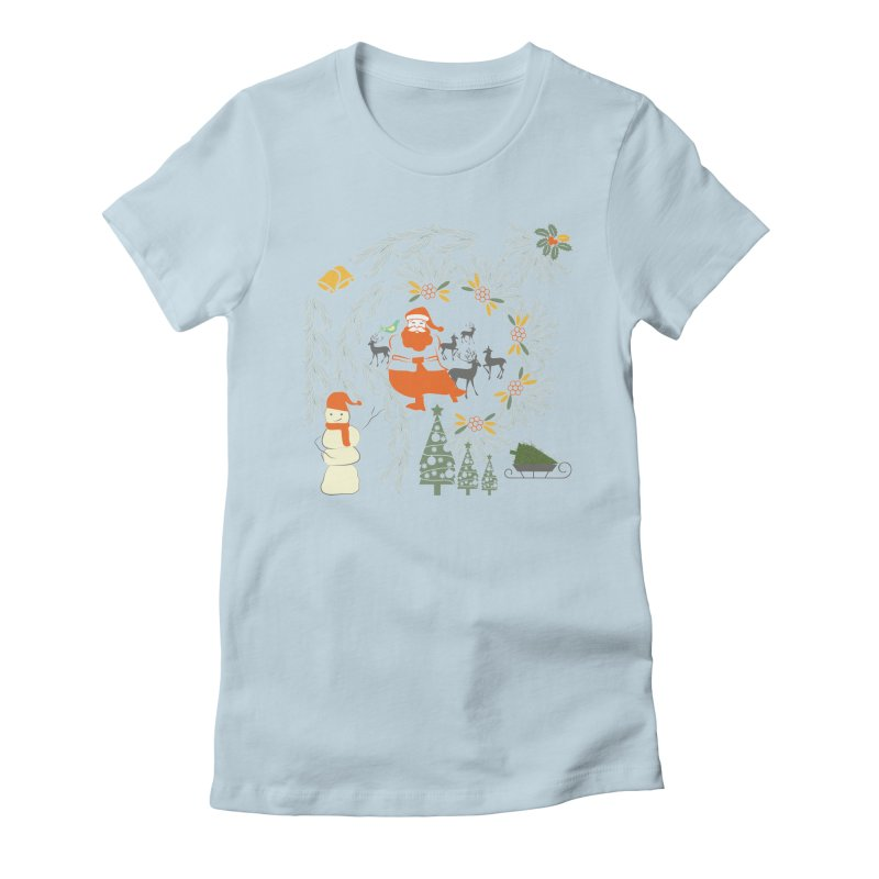 Joyous Christmas Women's Fitted T-Shirt by Famenxt