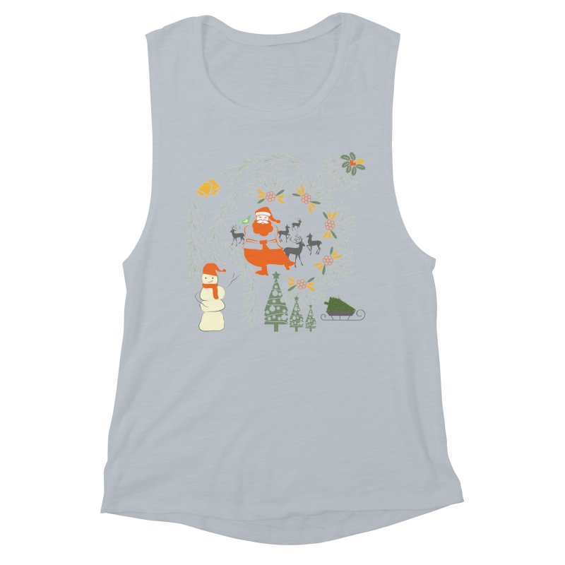 Joyous Christmas Women's Muscle Tank by Famenxt