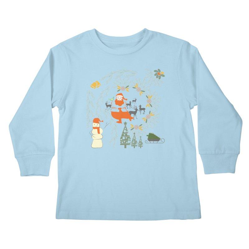 Joyous Christmas Kids Longsleeve T-Shirt by Famenxt