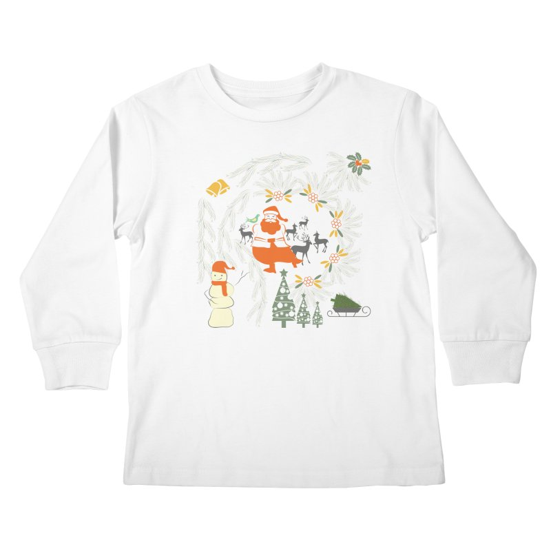 Joyous Christmas Kids Longsleeve T-Shirt by Famenxt