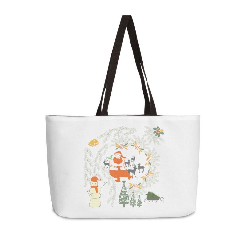 Joyous Christmas Accessories Weekender Bag Bag by Famenxt