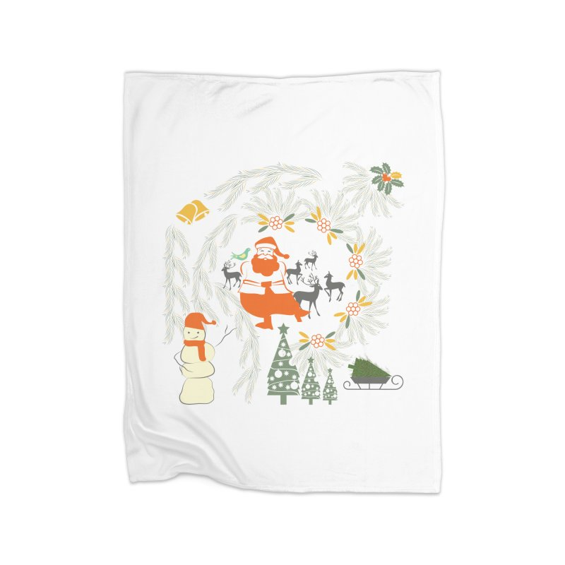Joyous Christmas Home Fleece Blanket Blanket by Famenxt