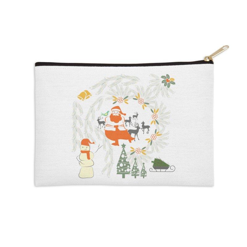 Joyous Christmas Accessories Zip Pouch by Famenxt