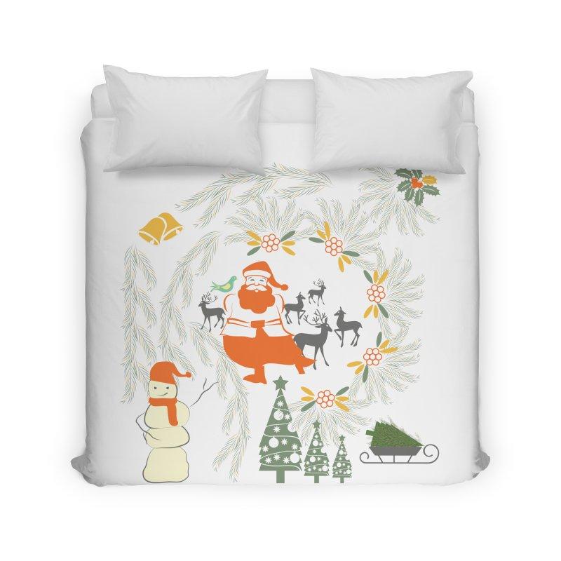Joyous Christmas Home Duvet by Famenxt