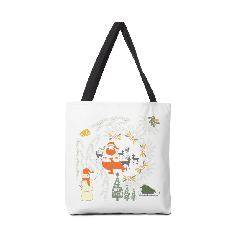 Joyous Christmas Accessories Tote Bag Bag by Famenxt