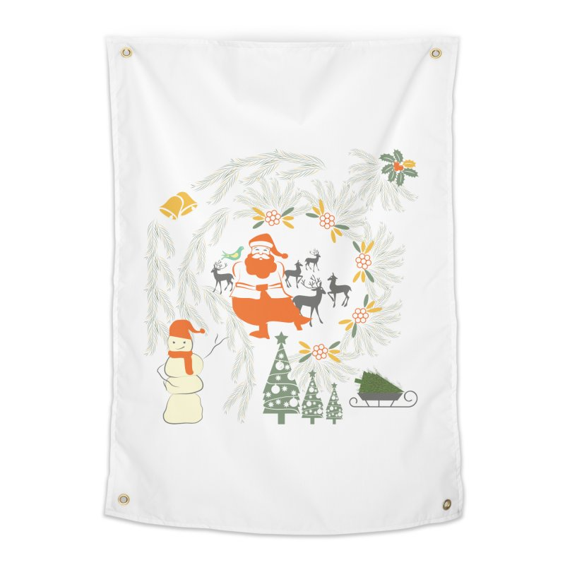 Joyous Christmas Home Tapestry by Famenxt