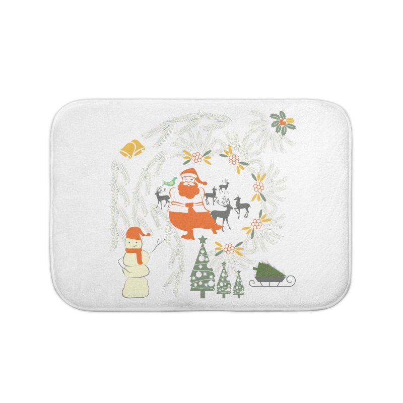 Joyous Christmas Home Bath Mat by Famenxt