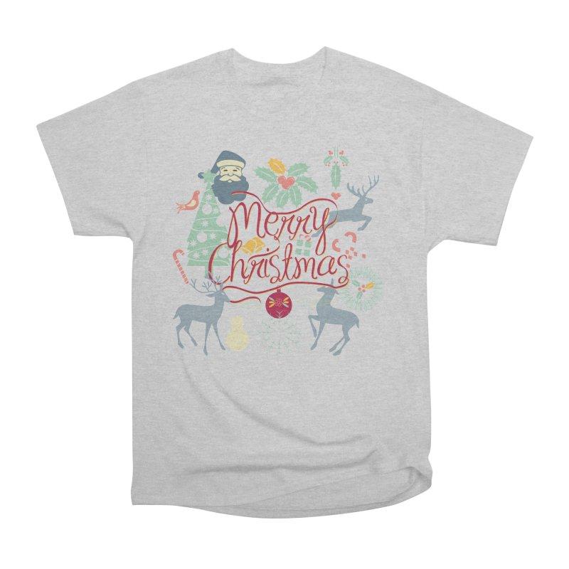 Merry Christmas Men's Heavyweight T-Shirt by Famenxt