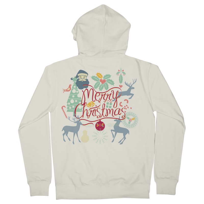 Merry Christmas Women's French Terry Zip-Up Hoody by Famenxt